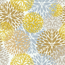 Floral Seamless Pattern In Pas...