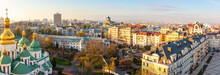 Aerial View Of Kyiv City, Cent...