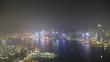 time-lapse Hong Kong skyline at night
