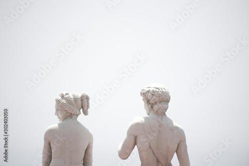 Photo Praiano costa amalfitana estatuas  griegas