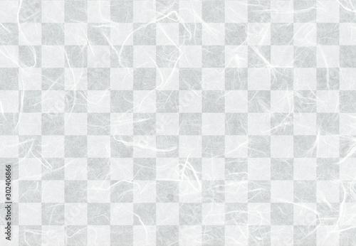 Fond de hotte en verre imprimé Aigle 和紙市松柄白