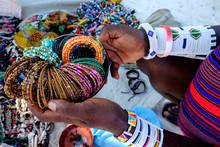 Bead Work Desplay In A Market Shop In Uroa Bay Zanzibar