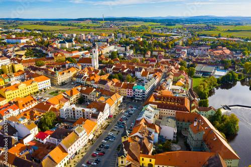 Fotografie, Obraz  Aerial view on the city Pisek