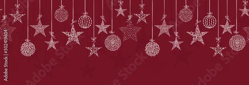 Elegancki wzór bombki świąteczne, ręcznie rysowane kulki - idealne do tekstyliów, tapet, zaproszeń, banerów - wektor powierzchni