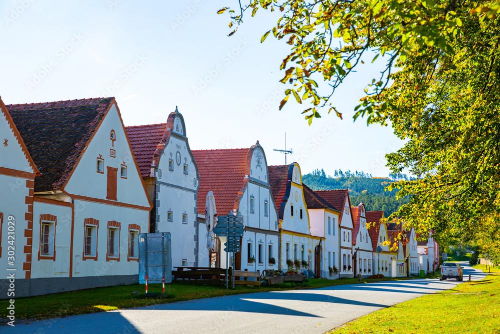 Fototapety, obrazy: Bohemian village of Holasovice, Czech Republic
