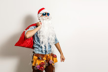 Santa Claus. Young Man With Ch...