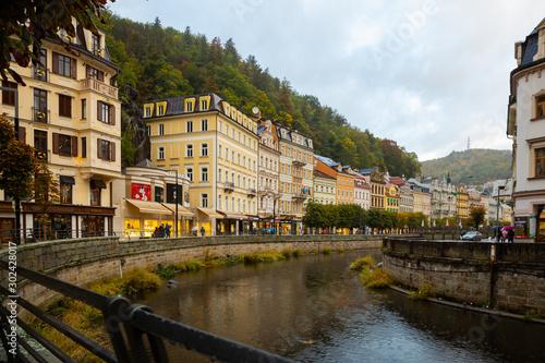 Fototapeta  Embankment in Karlovy Vary