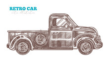 Vector Engraved Retro Pickup T...