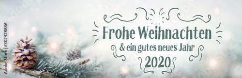 Fotografía  Christmas greetings  2019  2020  -  German language  -  Merry Christmas and Happ