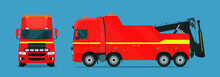 Tow Truck For Trucks Set. Tow ...