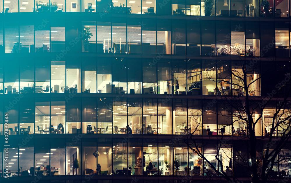 Fototapeta London office building skyscraper, working & meeting - obraz na płótnie