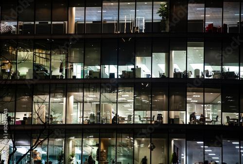 Fototapeta London office building skyscraper, working & meeting obraz na płótnie