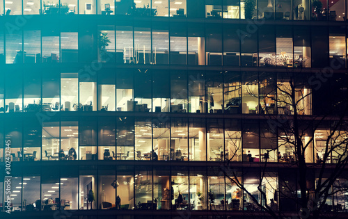 Obraz London office building skyscraper, working & meeting - fototapety do salonu