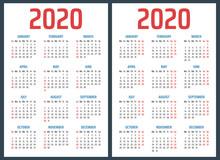 Calendar For 2020 Starts Sunda...