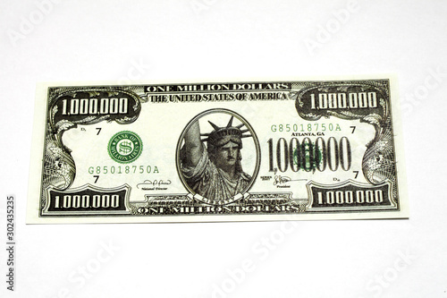 Fotomural  one million dollar bill on a white background