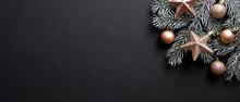 Christmas Banner. Black Xmas B...
