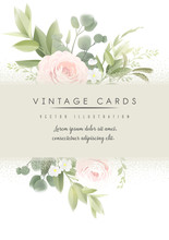 Flowers. Greeting Card With Ro...