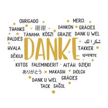 Danke - Herzlichen Dank Mehrsprachig
