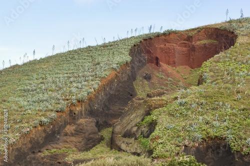 Obraz na plátne Eroded part of a big hill - erosion