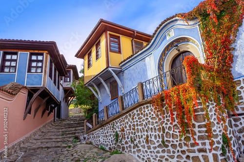 Deurstickers Oost Europa Plovdiv, Bulgaria, Old Town, Essen_7