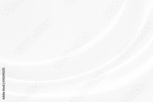 Obraz Abstract soft waves of white fabric   highlights future background. 3D illustration and rendering. - fototapety do salonu