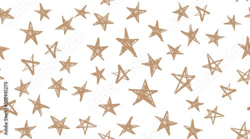 Stars set. Hand drawn illustrations Canvas Print