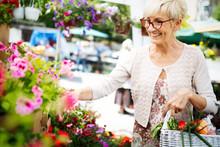 Attractive Senior Woman Shoppi...