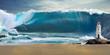 canvas print picture - Tsunami big wave