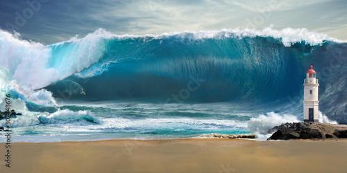 Foto Tsunami big wave