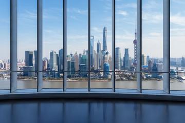 outside the window scene of shanghai skyline