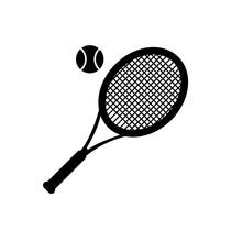 Tennis Racket Vector, Summer H...