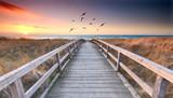 romantischer Weg zum Strand