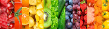 Background Of Fruits, Vegetabl...