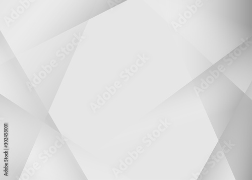 Abstract triangle geometric gray color background vector design Fototapeta