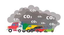 Gasoline Cars Emits Co2 Dioxid...