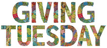 Words With Giving Tuesday. Vec...