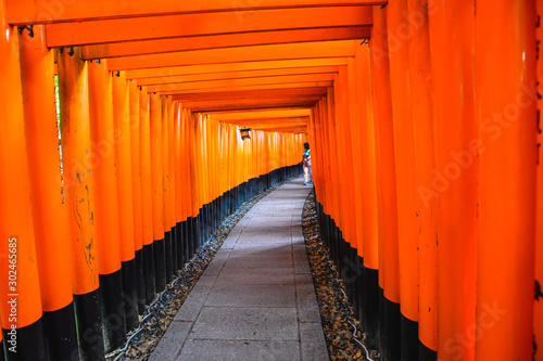 The iconic shrine in Kyoto, made famous for its thousands of orange and black torii gates which climb to the summit of Mt Inari