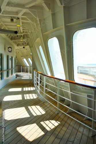 Luxurious transatlantic crossing aboard the luxury ocean liner cruise ship Cunar Canvas Print
