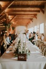 Wedding Reception Table In A R...