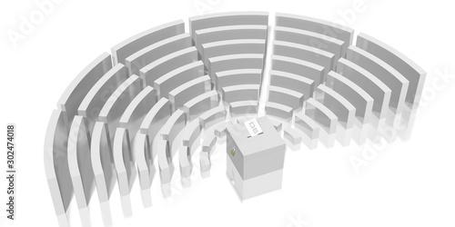 Parliament election concept, ballot box - 3D rendering Fototapete