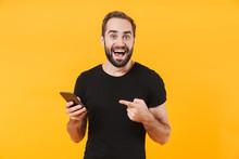 Image Of Surprised Man Wearing...