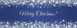 Merry Christmas and New Year banner. Silver glitter decoration