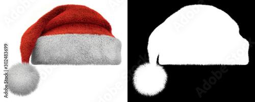 Photo Christmas Santa Claus Furry Hat