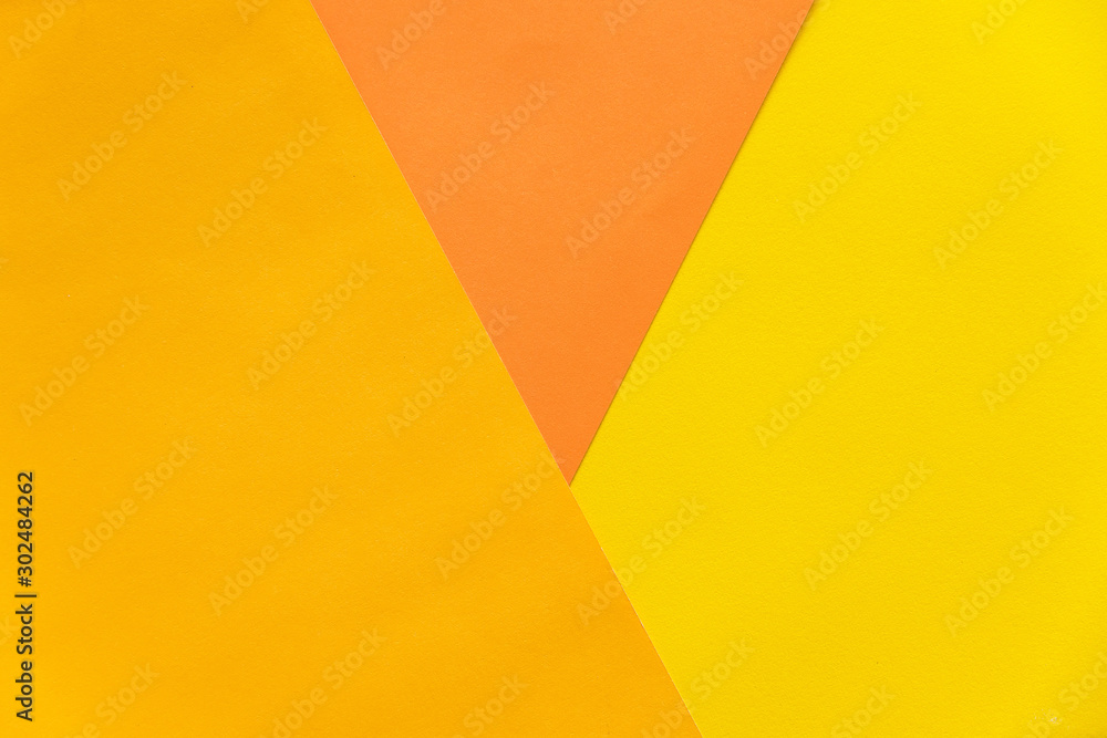 Fototapety, obrazy: Abstract orange and yellow papers stacking together in abstract form. Abstract color paper background.