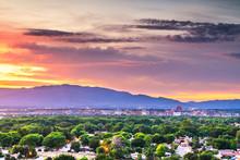 Albuquerque, New Mexico, USA Downtown Cityscape