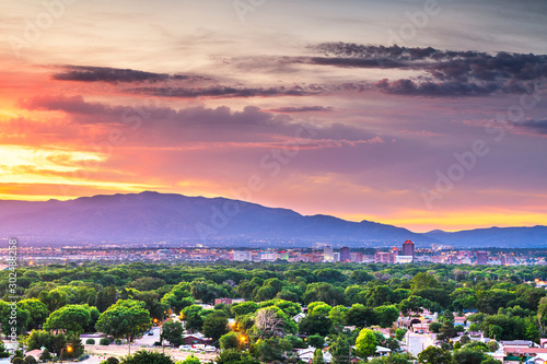 Albuquerque, New Mexico, USA downtown cityscape Slika na platnu