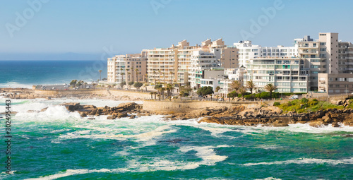 view of Bantry Bay and  apartments in Cape Town South Africa Wallpaper Mural