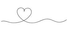 Heart. Continuous Line Art Dra...