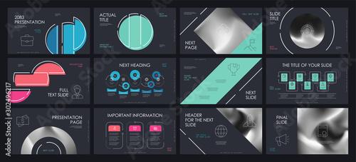 Presentation template design Tablou Canvas