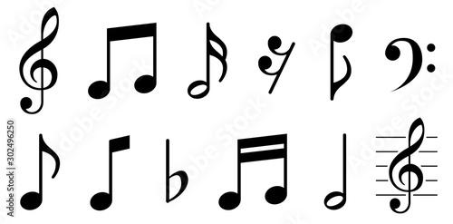 Fotografía  Music notes icons set